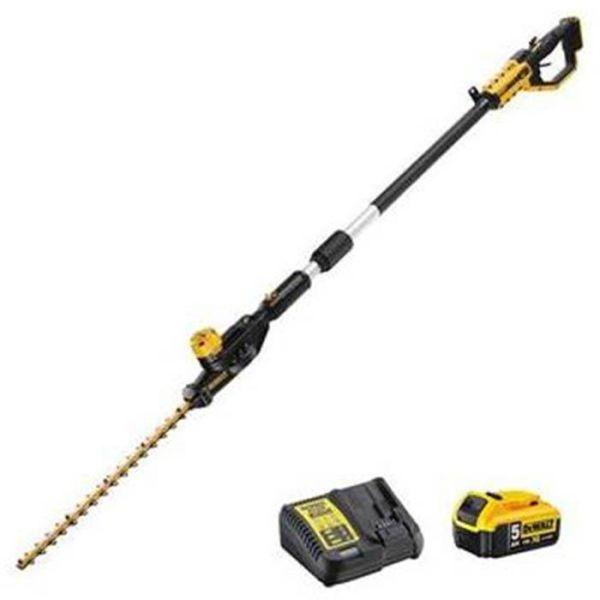 Häcksax Dewalt DCMPH566P1-QW med 5 Ah-batteri och laddare