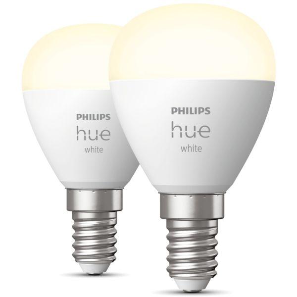 LED-valo Philips Hue White 5.7W, P45, E14, 2 kpl/pakkaus