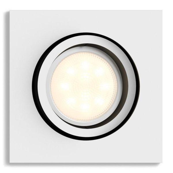 Spotlight Philips Hue White Ambiance Milliskin 5 W LED, 350 lm, GU10 Hvit