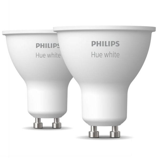 LED-lampe Philips Hue White 5,2 W, GU10, 2-pakning