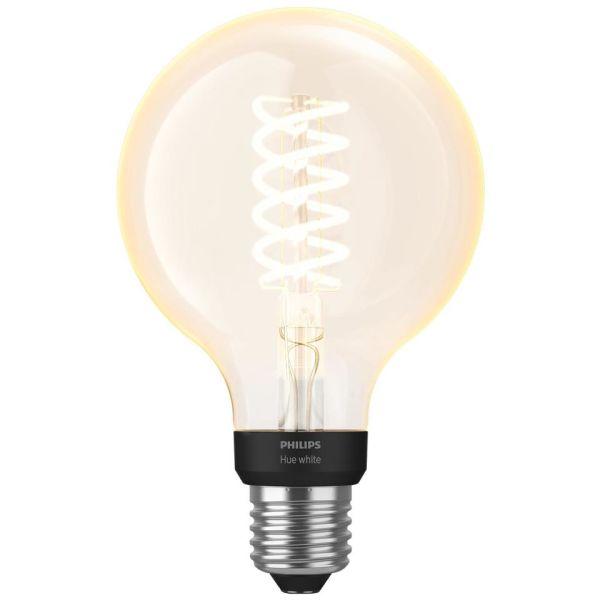 LED-lampe Philips Hue White 7 W, E27, filament