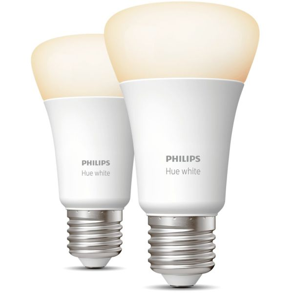 LED-lampe Philips Hue White 9 W, E27, A60, 2-pakning