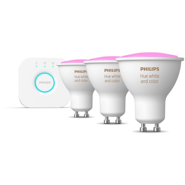 Startpakke Philips Hue White and Color Ambiance for smartbelysning, 3 x 5,7 W