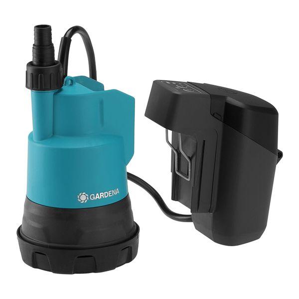 Vannpumpe Gardena 2000/2 med batteri og lader