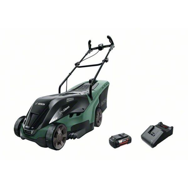 Gräsklippare Bosch DIY Universal Rotak 36-550 med 4,0Ah batteri och laddare