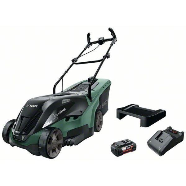 Gräsklippare Bosch DIY Universal Rotak 36-590 med 4,0Ah batteri och laddare