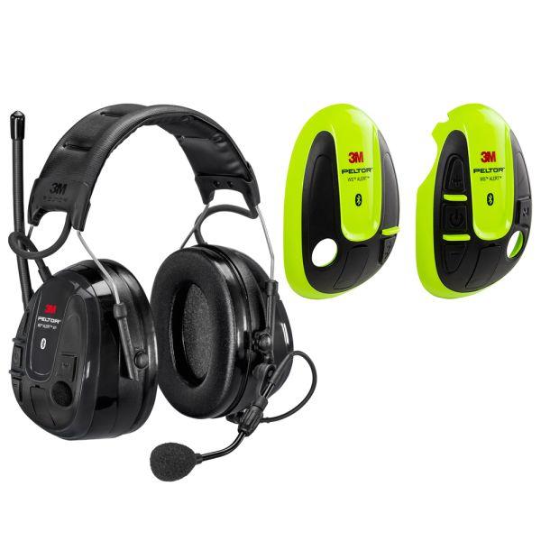 Hörselskydd 3M Peltor WS Alert XP med Hi-viz-skal, Bluetooth med hjässbygel