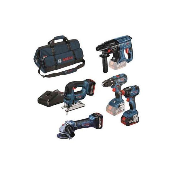 Verktygspaket Bosch GSR/GST/GWS/GDX/GBH med väska och laddare