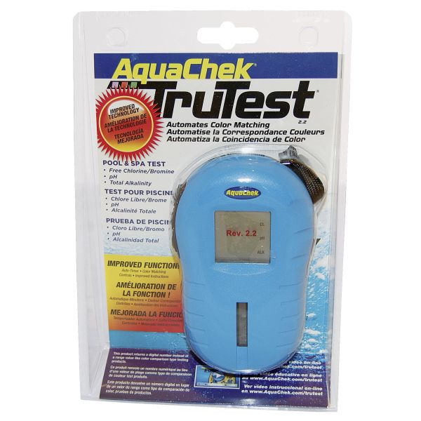 Digital måler Planet Pool AquaChek TruTest pH/klor/alka, blå
