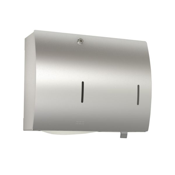 Pappersbehållare Franke STRX601 för väggmontage, med tvålbehållare
