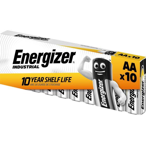 Alkaliskt batteri Energizer Industrial AA/LR06 10-pack